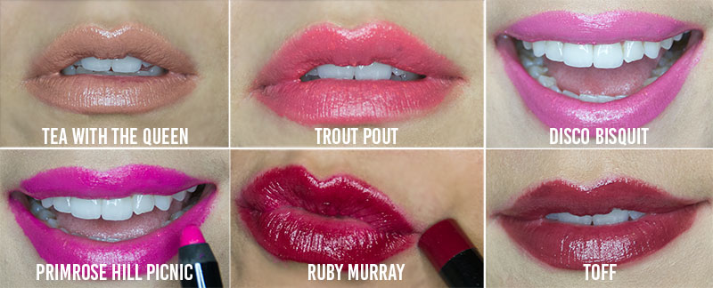 Butter London Lip Crayon swatches