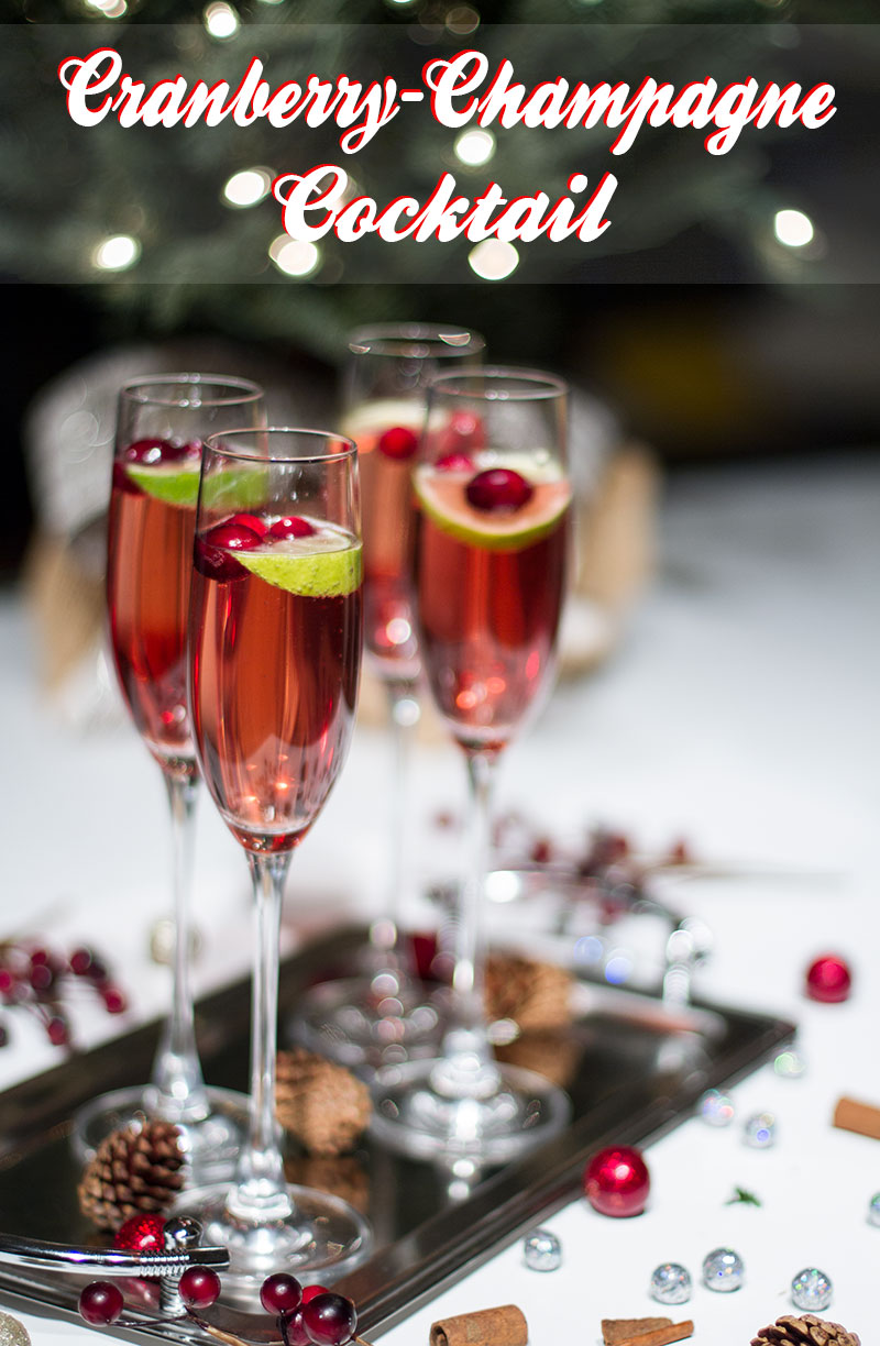 Christmas Cocktails: Cranberry Champagne Cocktail