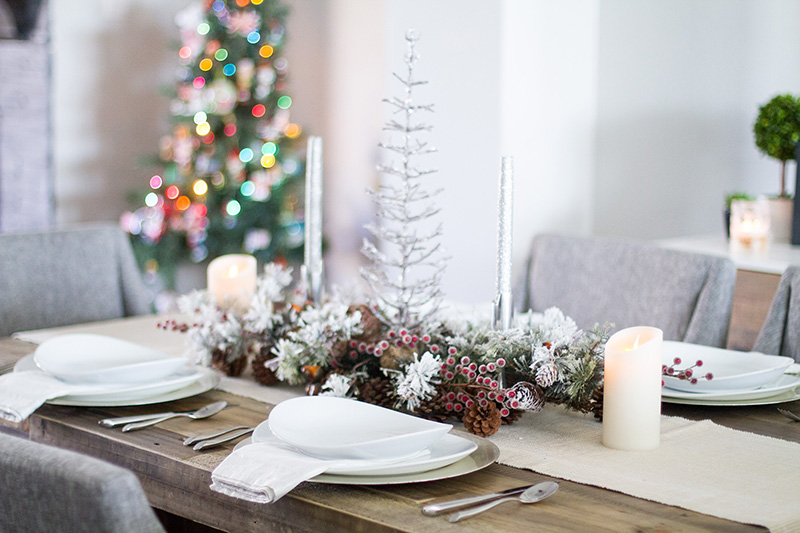 Christmas Table Decorations Rustic Christmas Decor