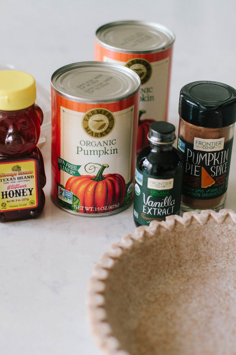 Clean Eating Pumpkin Pie Ingredients