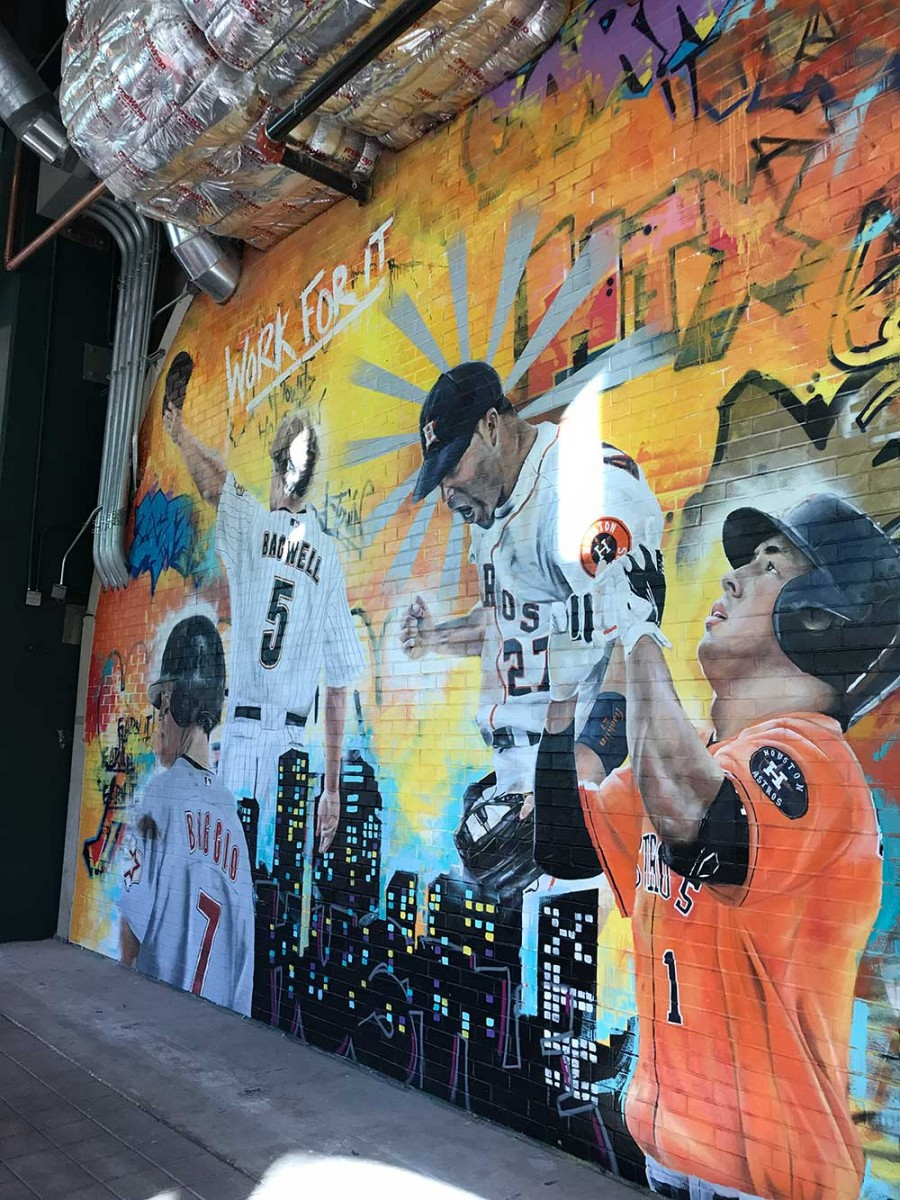 Houston Astros mural