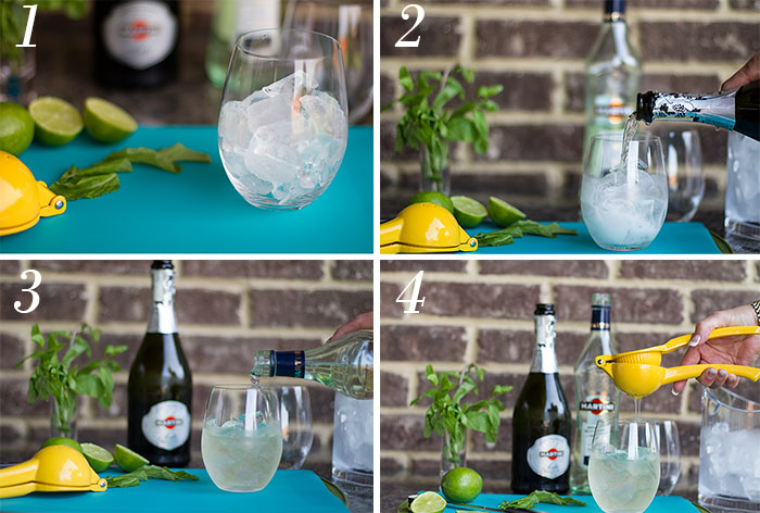 How to make a Martini Royale