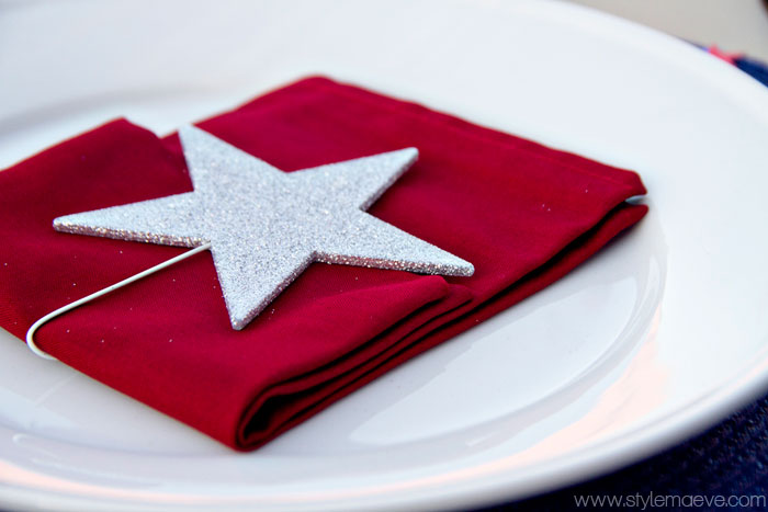 Plate Setting for 4th of July