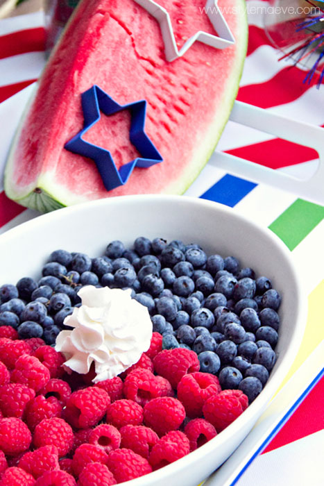 Red White and Blue - Food for 4th of July