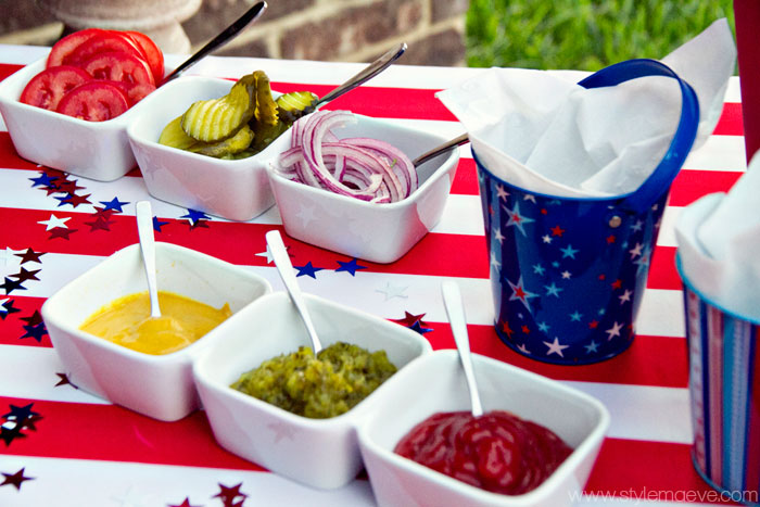 Fourth of July Food and Decor