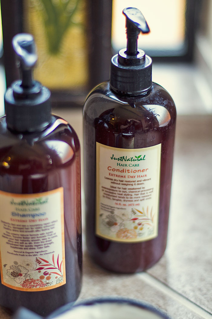 Just Natural Hair and Skin Care Shampoo and Conditioner