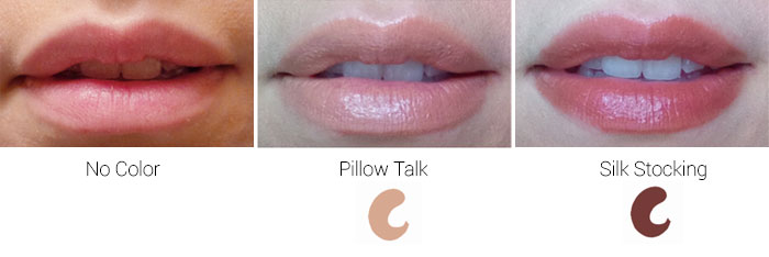 Lip Fusion Lipstick in Pillow Talk and Silk Stocking