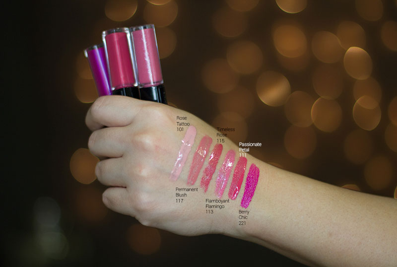Loreal Infallible Pro Last Lip Color swatches