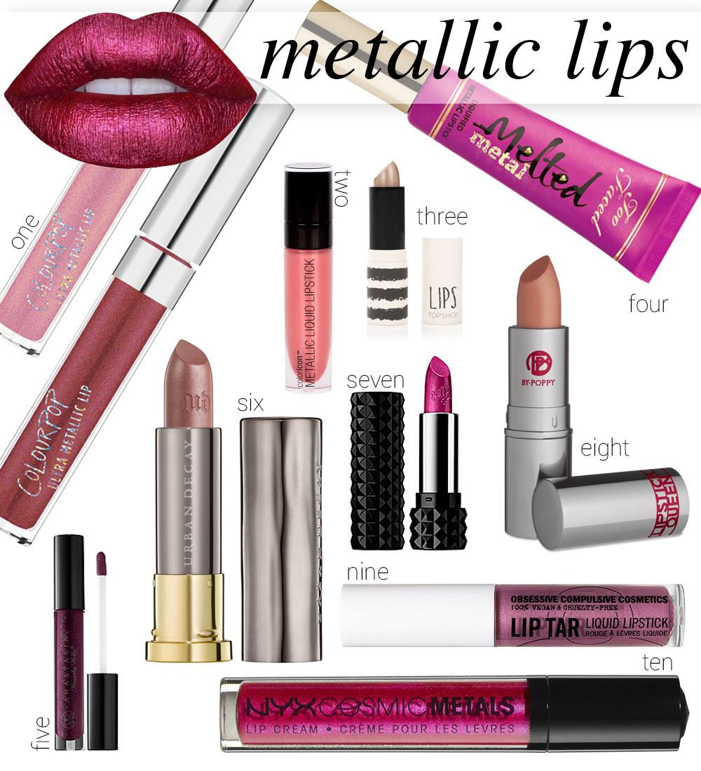 Metallic Lipsticks