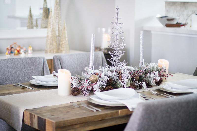 rustic christmas table decorations ... - Christmas Table Decorations - Rustic Christmas Decor