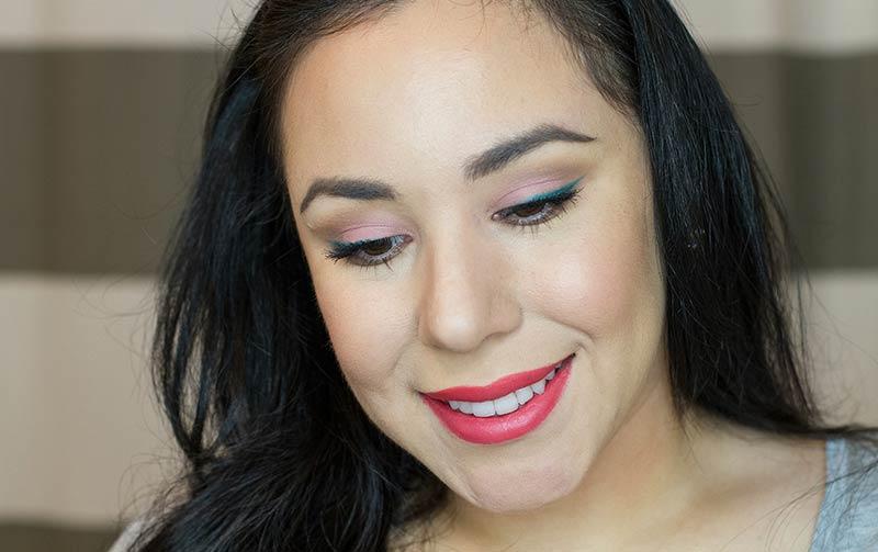 Summer Makeup, colourpop cosmetics, colour pop, green eyeliner, coral eyeshadow