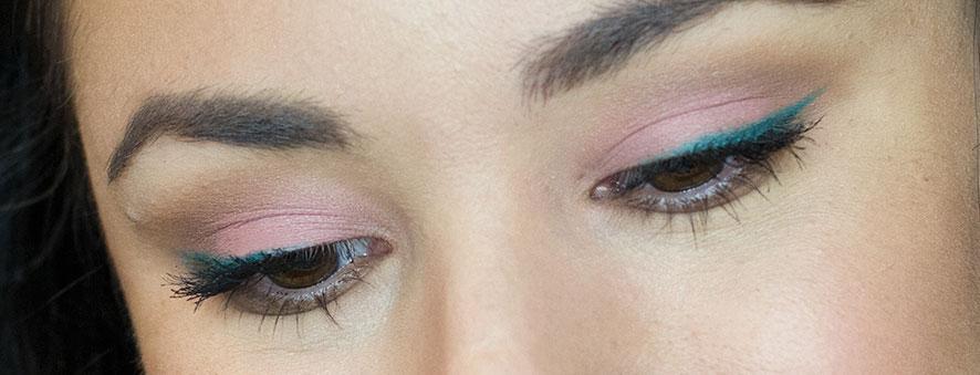 Summer Makeup, colourpop cosmetics, colour pop, green eyeliner, coral eyeshadow, colourpop in a pickle