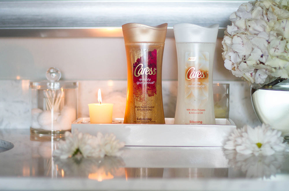 Caress Body Washes and Exfoliator