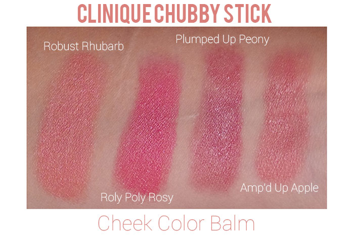 Clinique Chubby Stick Cheek Color Swatches