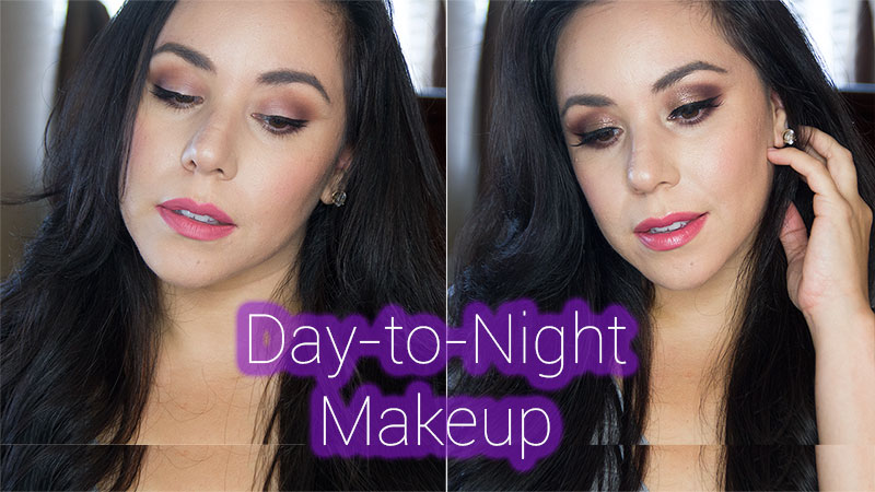 day-to-night makeup, colourpop nillionaire, anastasia beverly hills artist palette