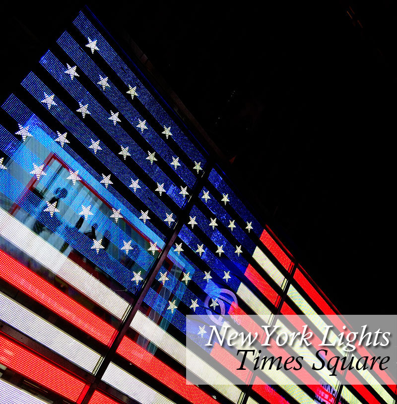 US Flag in Times Square