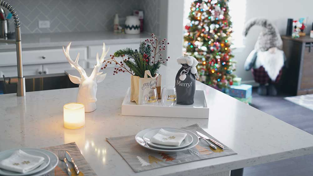GREY CHRISTMAS DECOR