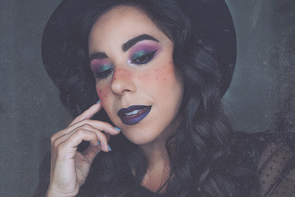 Easy Witch Makeup Halloween look