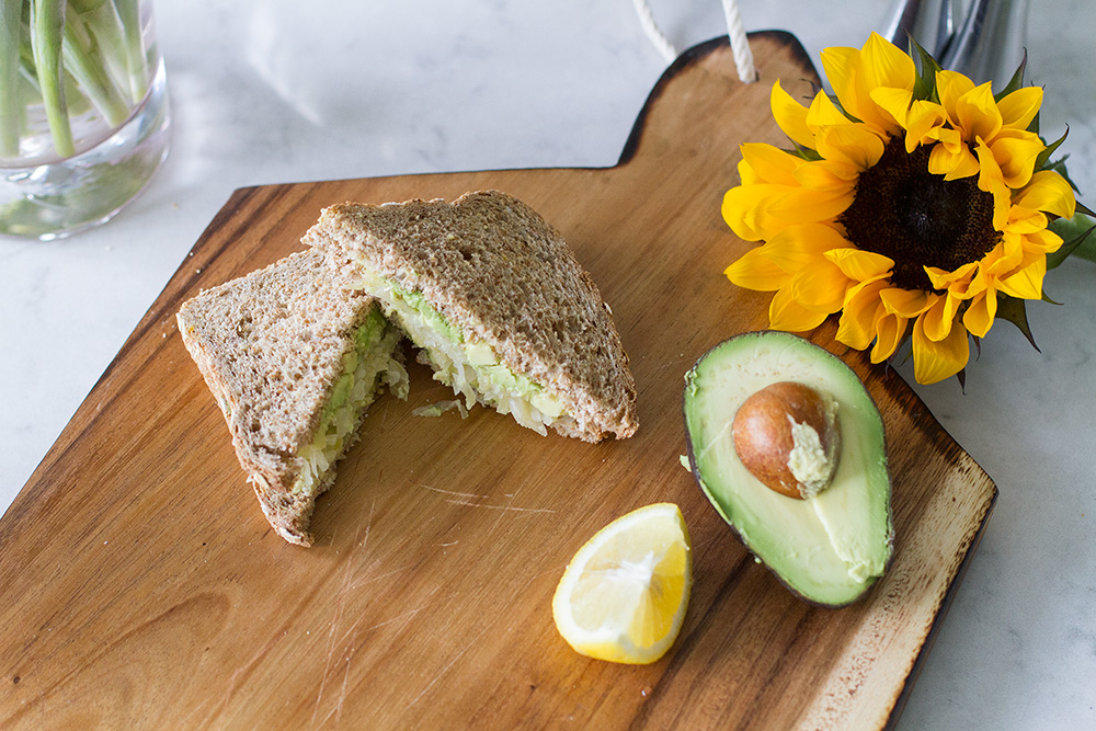 Avocado and Sauerkraut Sandwich