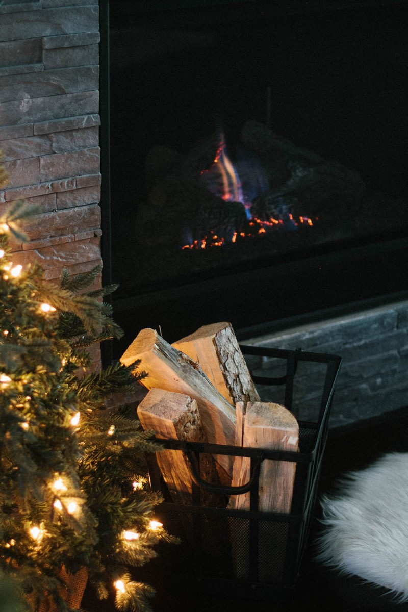 Winter Fireplace