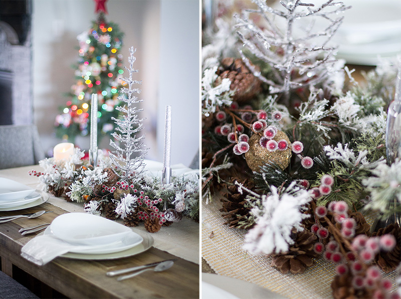 Christmas Table Decorations - Rustic Christmas Decor