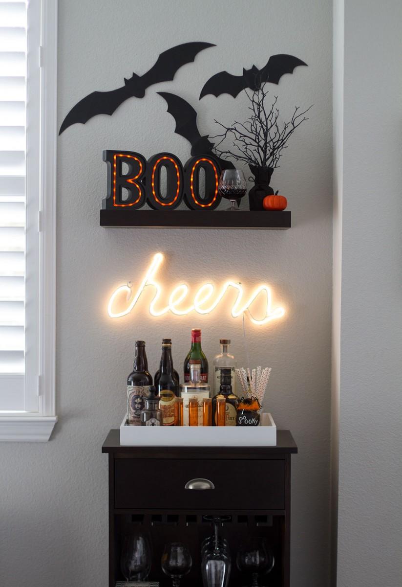 Halloween Bar Cart Decorations