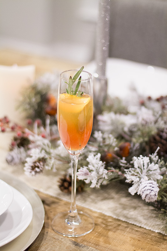 Holiday Cocktail, champagne cocktail