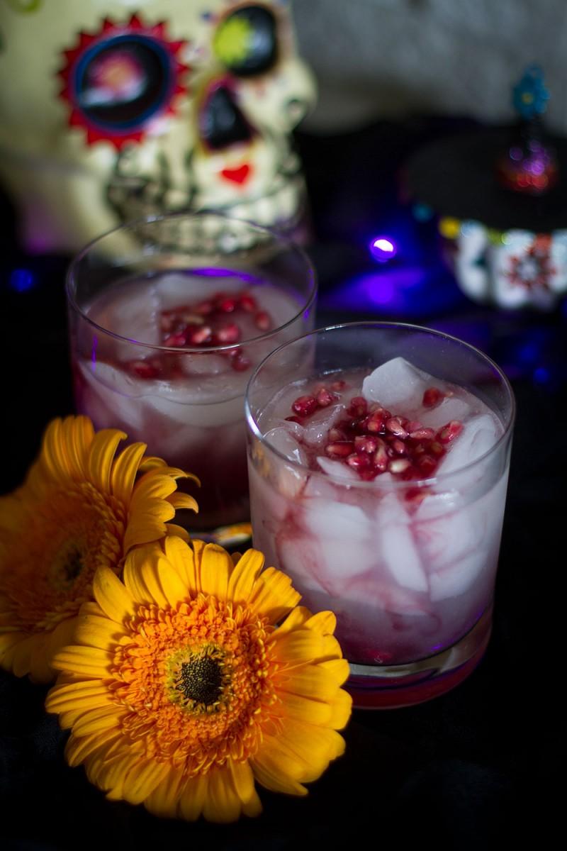 Dia de los Muertos Cocktail - Wine Margarita