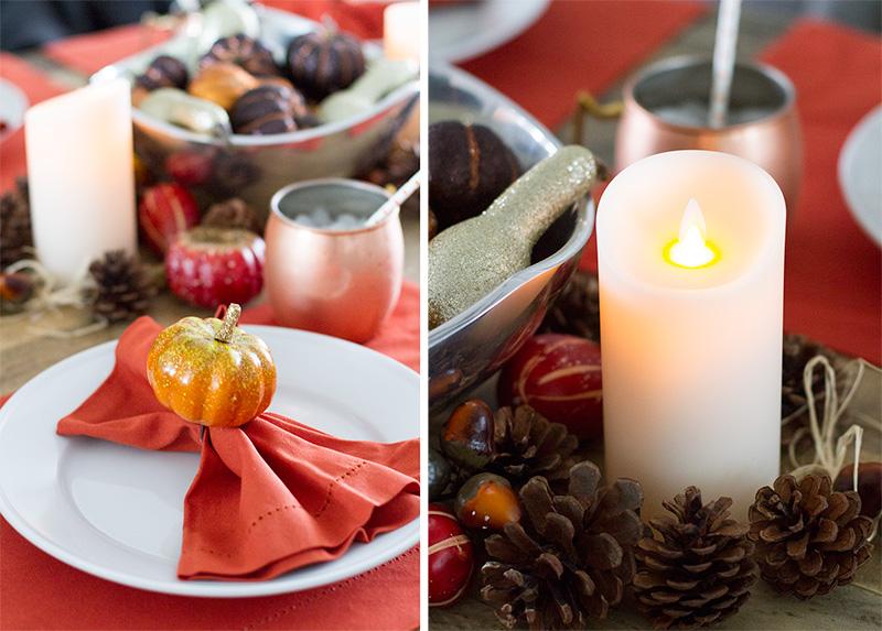 fall decor, thanksgiving table decor