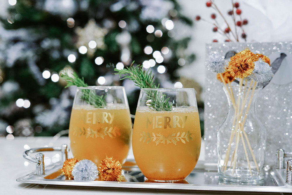 Winter Cocktail - Champagne cocktails